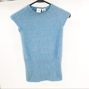 Armani Exchange angora powder blue sweater Sz XS
